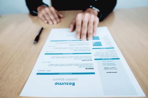 CV format papier